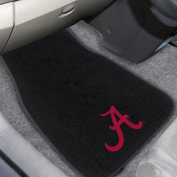 University of Alabama Embroidered Black Car Mat, Set of 2
