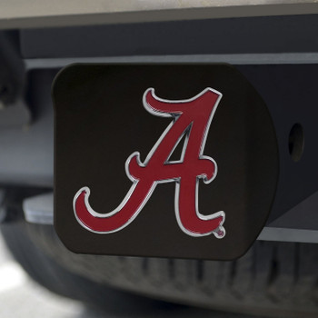 University of Alabama Hitch Cover - Color on Black