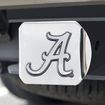 University of Alabama Hitch Cover - Chrome on Chrome