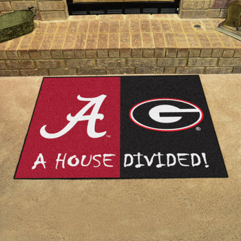 "33.75"" x 42.5"" Alabama / Georgia House Divided Rectangle Mat"