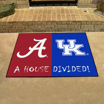"33.75"" x 42.5"" Alabama / Kentucky House Divided Rectangle Mat"