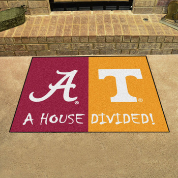 "33.75"" x 42.5"" Alabama / Tennessee House Divided Rectangle Mat"