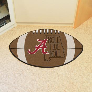 """20.5"""" x 32.5"""" University of Alabama Southern Style Football Shape Mat"""