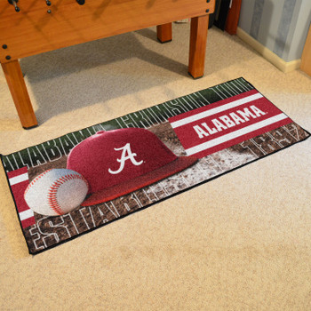 "30"" x 72"" Alabama Baseball Style Rectangle Runner Mat"