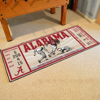"30"" x 72"" University of Alabama Ticket Rectangle Runner Mat"