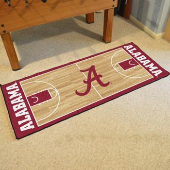 "30"" x 72"" University of Alabama NCAA Basketball Rectangle Runner Mat"