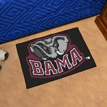 "19"" x 30"" University of Alabama Black Rectangle Starter Mat"