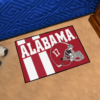 "19"" x 30"" University of Alabama Uniform Red Rectangle Starter Mat"