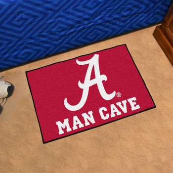 "19"" x 30"" University of Alabama Man Cave Starter Red Rectangle Mat"