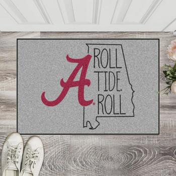 "19"" x 30"" University of Alabama Southern Style Gray Rectangle Starter Mat"