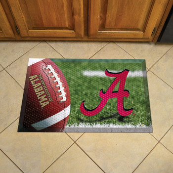 "19"" x 30"" University of Alabama Rectangle Scraper Mat - ""Script A"" Logo"