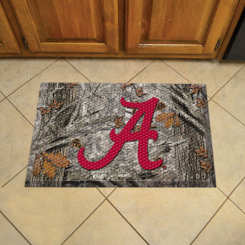 "19"" x 30"" University of Alabama Rectangle Camo Scraper Mat - ""Script A"" Logo"