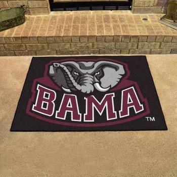 "33.75"" x 42.5"" University of Alabama All Star Black Rectangle Mat"