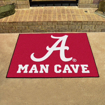 "33.75"" x 42.5"" University of Alabama Man Cave All-Star Red Rectangle Mat"