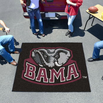 "59.5"" x 71"" University of Alabama Black Tailgater Mat"