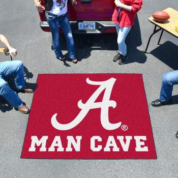 "59.5"" x 71"" University of Alabama Man Cave Tailgater Red Rectangle Mat"
