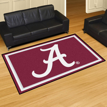 5' x 8' University of Alabama Red Rectangle Rug
