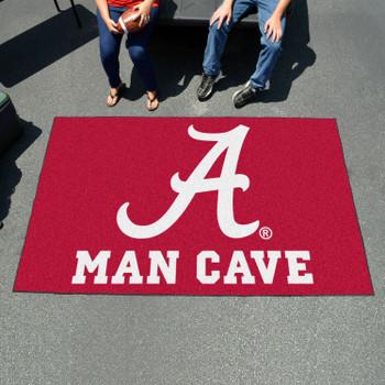 """59.5"""" x 94.5"""" University of Alabama Man Cave Red Rectangle Ulti Mat"""