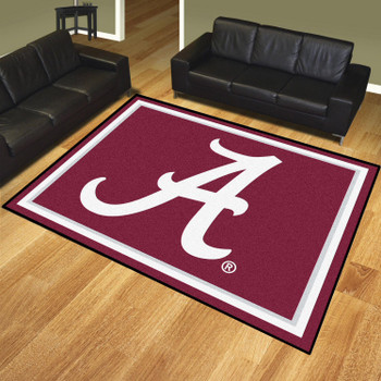 8' x 10' University of Alabama Red Rectangle Rug