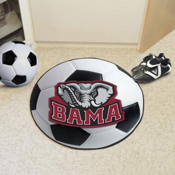 "27"" University of Alabama Elephant Logo Soccer Ball Round Mat"