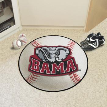 """27"""" University of Alabama Elephant Logo Baseball Style Round Mat"""