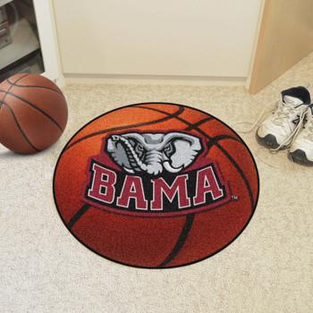 """27"""" University of Alabama Elephant Logo Orange Basketball Style Round Mat"""