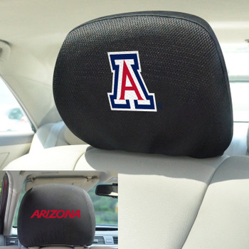 University of Arizona Car Headrest Cover, Set of 2