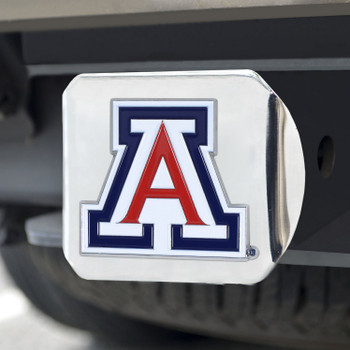 University of Arizona Color Hitch Cover - Chrome