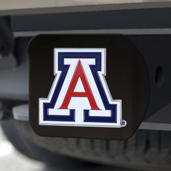 University of Arizona Hitch Cover - Color on Black