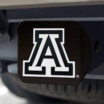 University of Arizona Hitch Cover - Chrome on Black