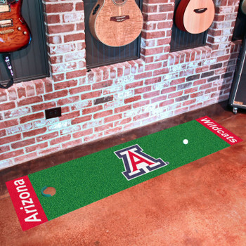 "18"" x 72"" University of Arizona Putting Green Runner Mat"
