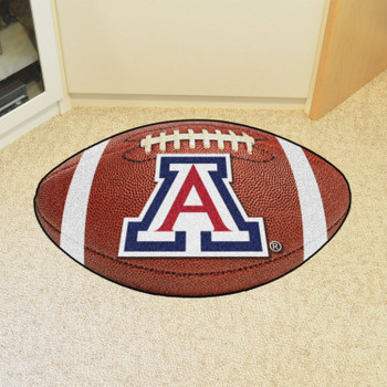 "20.5"" x 32.5"" University of Arizona Football Shape Mat"