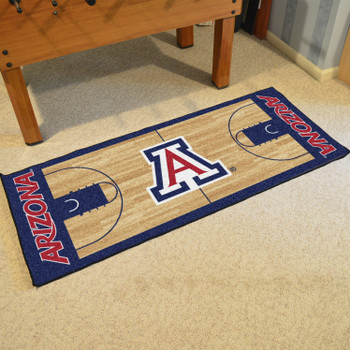 "30"" x 72"" University of Arizona NCAA Basketball Rectangle Runner Mat"