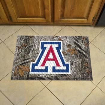 "19"" x 30"" University of Arizona Rectangle Camo Scraper Mat - ""A"" Primary Logo"