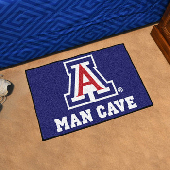 "19"" x 30"" University of Arizona Man Cave Starter Blue Rectangle Mat"