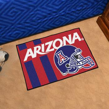 "19"" x 30"" University of Arizona Football Helmet Red Rectangle Starter Mat"