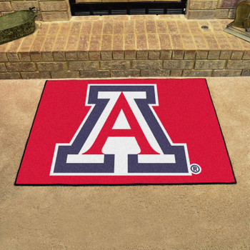 "33.75"" x 42.5"" University of Arizona All Star Red Rectangle Mat"