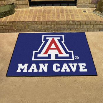 "33.75"" x 42.5"" University of Arizona Man Cave All-Star Blue Rectangle Mat"