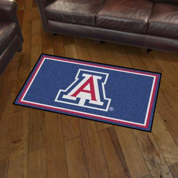 3' x 5' University of Arizona Blue Rectangle Rug