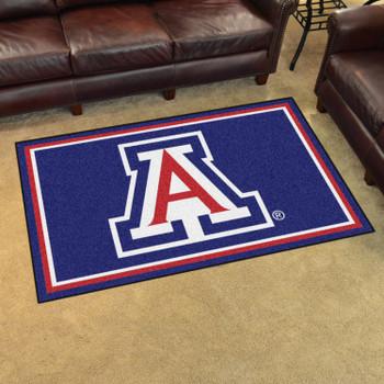 4' x 6' University of Arizona Blue Rectangle Rug