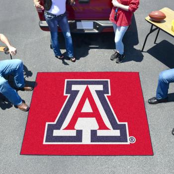 """59.5"""" x 71"""" University of Arizona Red Tailgater Mat"""