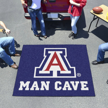 "59.5"" x 71"" University of Arizona Man Cave Tailgater Blue Rectangle Mat"