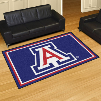 5' x 8' University of Arizona Blue Rectangle Rug