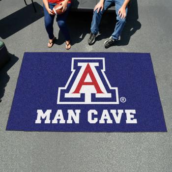 "59.5"" x 94.5"" University of Arizona Man Cave Blue Rectangle Ulti Mat"