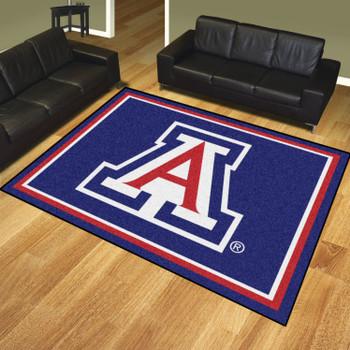 8' x 10' University of Arizona Blue Rectangle Rug