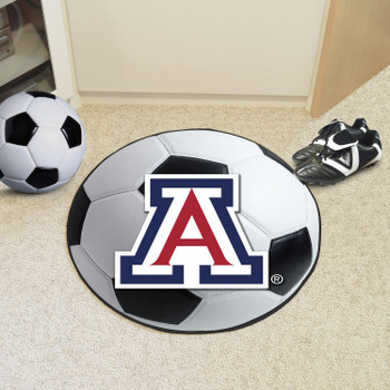 "27"" University of Arizona Soccer Ball Round Mat"