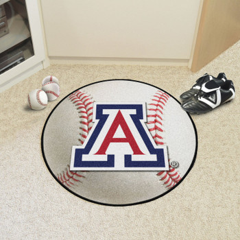 "27"" University of Arizona Baseball Style Round Mat"