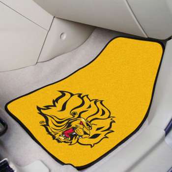 University of Arkansas at Pine Bluff Yellow Carpet Car Mat, Set of 2