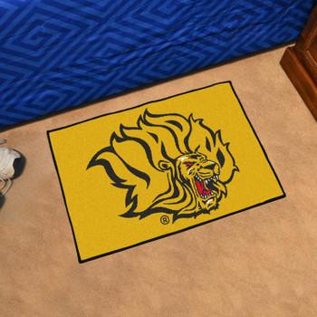 "19"" x 30"" University of Arkansas at Pine Bluff Yellow Rectangle Starter Mat"