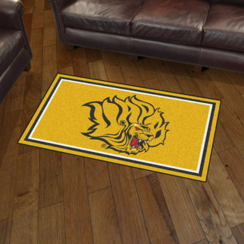 3' x 5' University of Arkansas at Pine Bluff Yellow Rectangle Rug